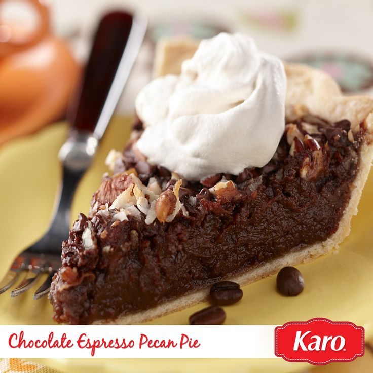 Indulge in a slice of gooey Chocolate Espresso Pecan Pie