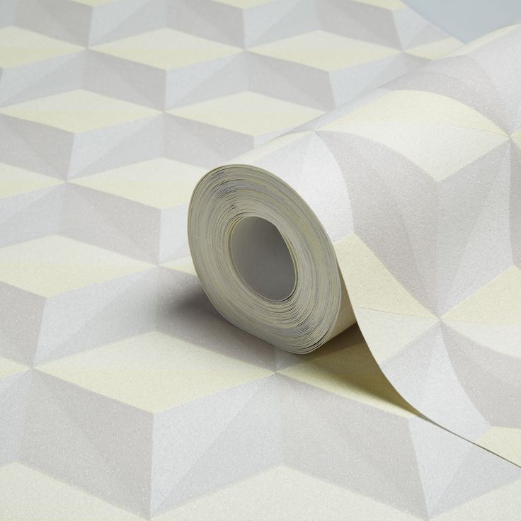 Life Beige, Grey & Yellow Geometric Glitter Wallpaper   Departments   DIY at B&Q