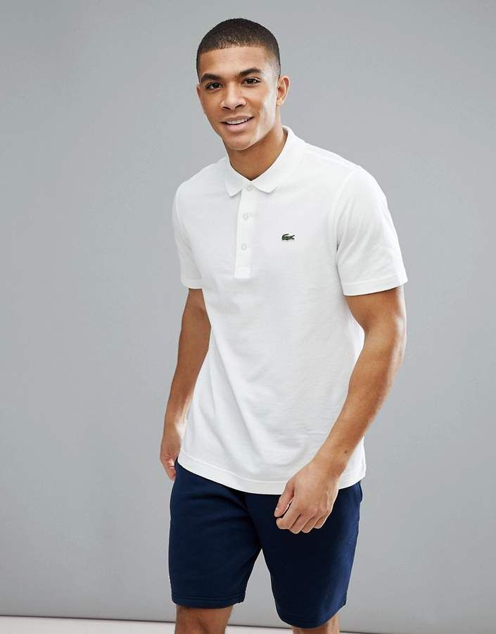 b262ca9c Lacoste Sport polo in white | Designer in 2019 | Sports polo shirts ...