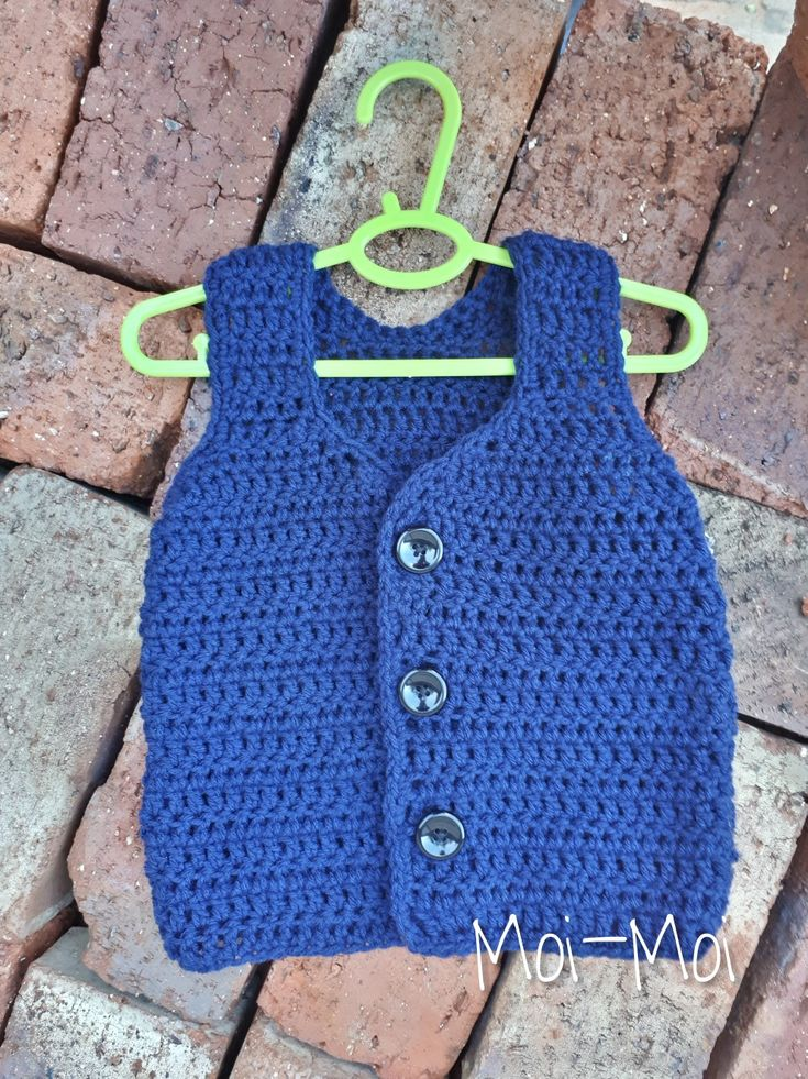 Crochet baby boy vest. Too cute! Perfect for church.