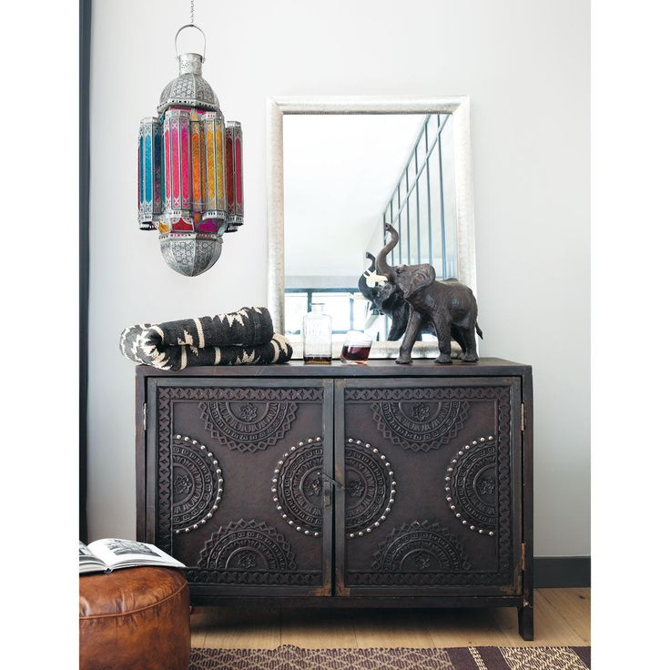 Mango Wood Carved Sideboard In Brown W 115cm Mozambique