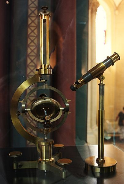 A gyroscope, used by seafarers as a keeper of direction when compasses were inaccurate or unavailable. They measure both balance and angular acceleration and help keep track of an object's orientation, independent of any other landmarks or determinants of direction.