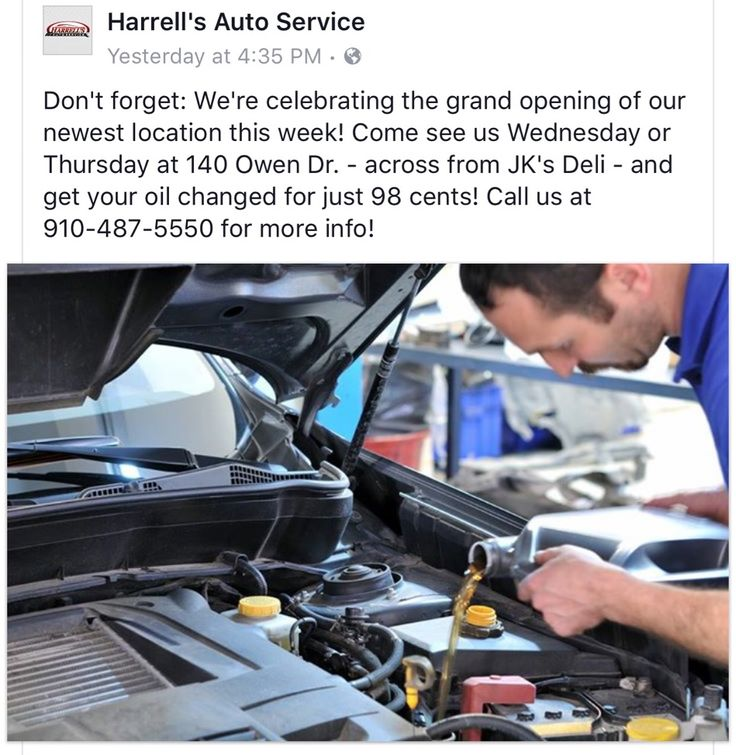 Community Alert: Do you need an oil change?! This is going on Wednesday and Thursday at Harrell's Auto on Owen Dr beside the Wasabi Restaurant. #CliffdaleAlive #ServeN16