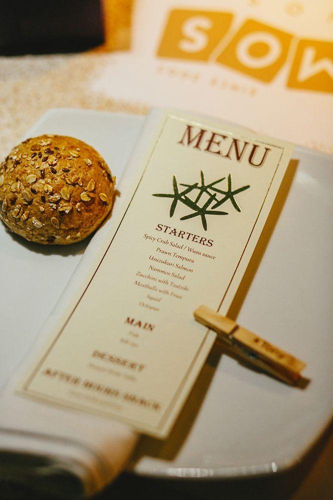 Wedding menus by Mykonos Exclusive. Mykonos exclusive weddings
