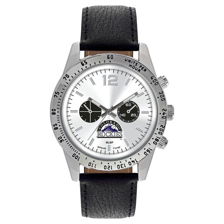 Men's Game Time MLB Letterman Sports Watch - Black -