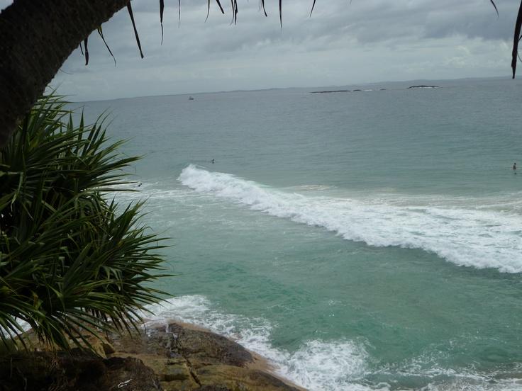 Rolling ocean Mooloolaba Australia