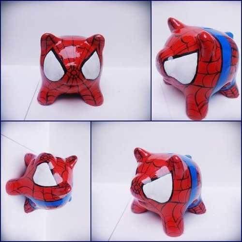 alcancias chanchitos spiderman