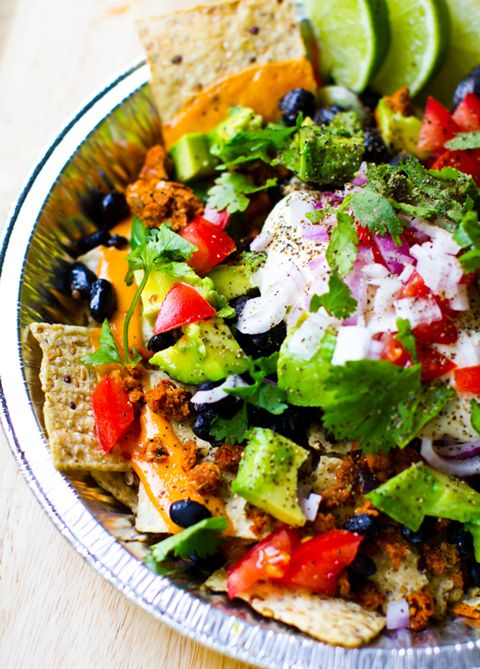 vegan nachos. I'm not vegan but am fine with vegan foid. This seems so healthy as a meal and its very easy to make this gluten and milk free.  | Organize, save, and share all of your recipes from one location with @RecipeTin! Find out more here: http://www.recipetinapp.com/