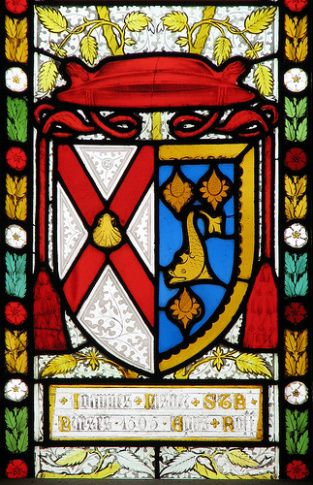 The arms of St. John Fisher.