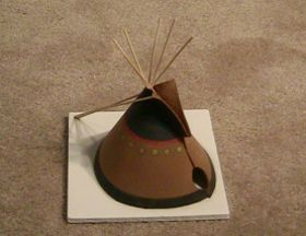 American Indian Teepee (or tepee or tipi) printout pattern (make it right out of the paper or trace it onto other materials) Use bamboo skewers as poles. Quick, easy and looks great! Fulfills Bears: Elective 24c