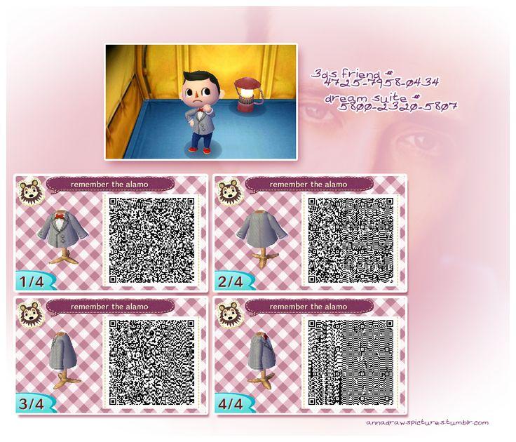 Pee Wee Herman Suit Animal Crossing New Leaf Qr Codes