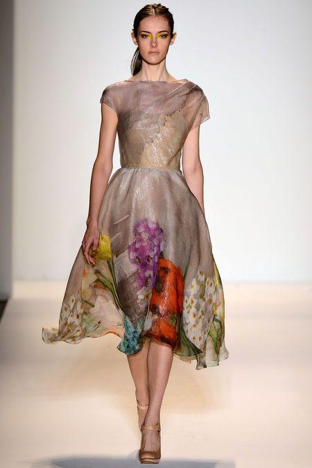 Lela Rose, Spring 2013 #nyfw #runway: Fashion Weeks, Spring Dresses, Spring Summer, Spring Fashion, Lela Rose, New York Fashion, Spring 2013, Rose Spring, Floral Dresses