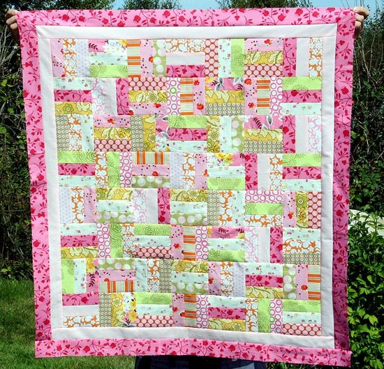 Easy Quilt Patterns Rail Fence : Pink and Green Fence Rail #Quilt quilts Pinterest Fence, Quilt and Pink