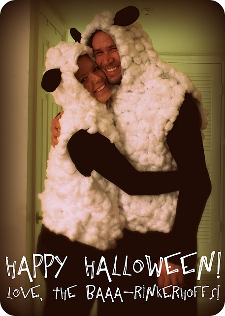 Sheep Costumes....I can see this now...a couple of Wolffs' in sheeps clothing ;) Halloween idea