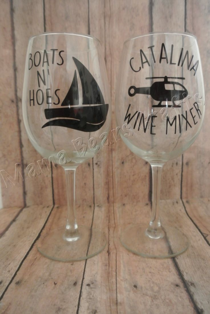 Step brothers gift set, Catalina Wine Mixer Wine Glass, Boats n Hoes Wine glass by MamaBearsCrafts254 on Etsy