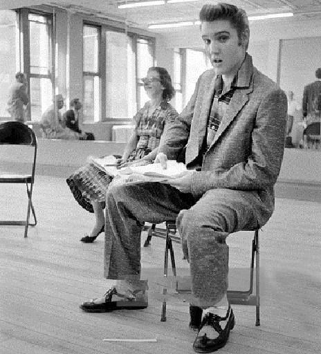 ALFRED WERTHEIMER ...A rare one from his archives. Steve Allen show rehearsal, New York, June 1956.../gr/FB