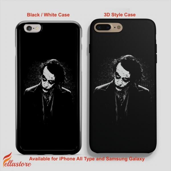 nice Black Joker Dark Knight iPhone 7-7 Plus Case, iPhone 6-6S Plus, iPhone 5 5S SE, Samsung Galaxy S8 S7 S6 Cases and Other