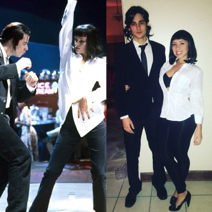 Pulp fiction costume mia wallace vincent vega halloween pinterest - Deguisement pulp fiction ...