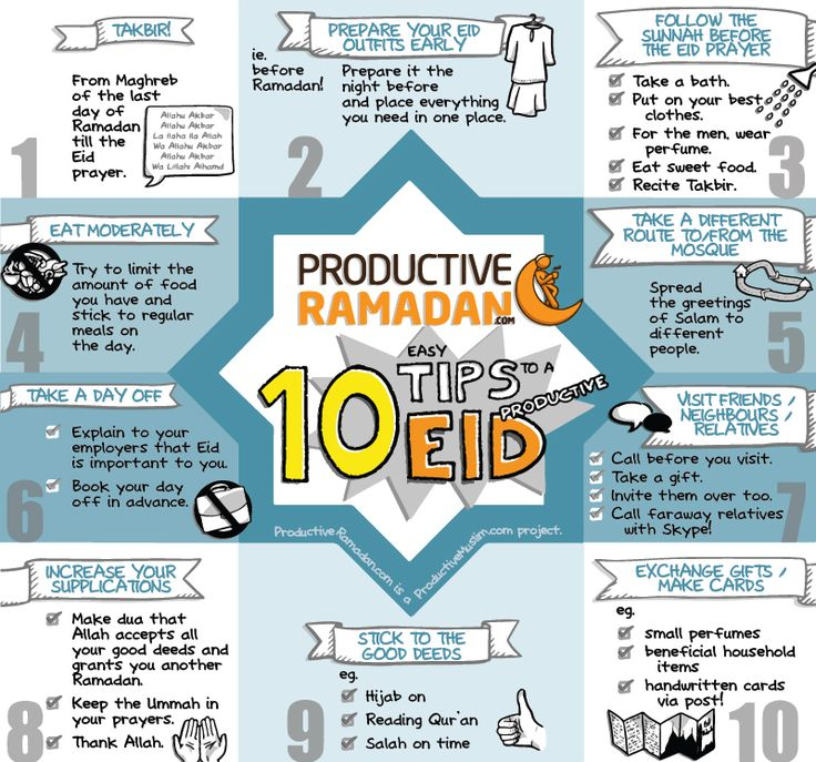 Taqabbal Allaahu minna wa minkum! May Allah accept all our righteous deeds! Here's the link to the article, '10 Tips to a Productive Eid': http://proms.ly/1rIBq6m