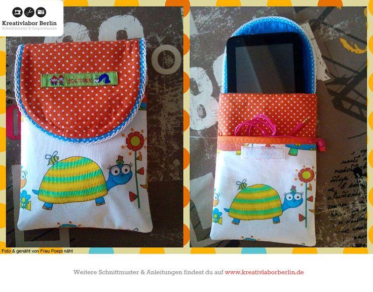 Freebook Handytasche Agneta: http://www.kreativlaborberlin.de/naehanleitungen-schnittmuster/handytasche-smartphonetasche-agneta/