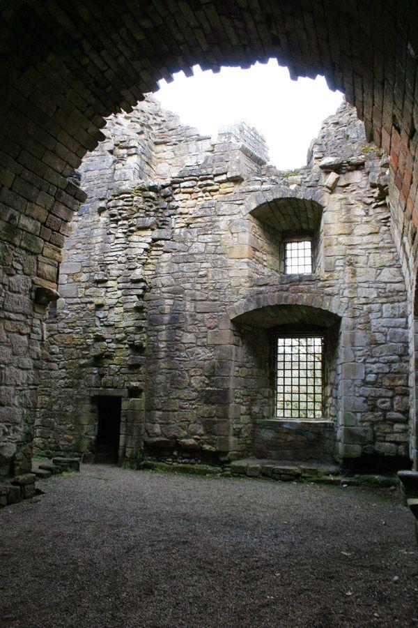 Craignethan Castle in Lesmahagow, Lanarkshire, Scotland with castle map