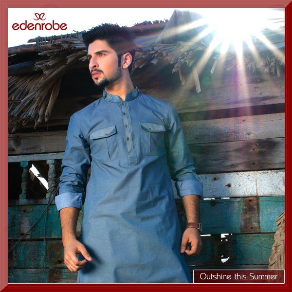 2e1421fe86 Eden Robe Summer Collection For Men 2014   Men Shalwar Kameez Designs For  Eid   Styles4me in 2019   Mens kurta designs, Kurta designs, Shalwar kameez