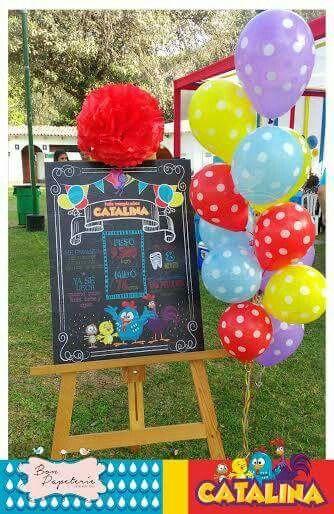 Fiesta Gallina pintadita - pizarra de datos