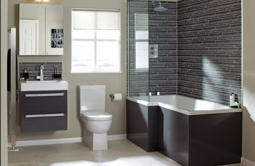 liking the black surround on bath tub. clean and modern. black n white. 14-Utopia-Bathroom-lg
