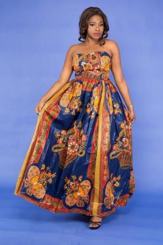 Bamenda African Maxi Dress - HouseOfSarah14