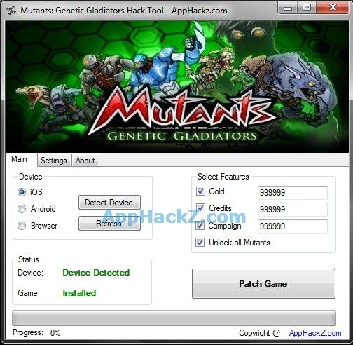 Mutants Genetic Gladiators Hack 2014