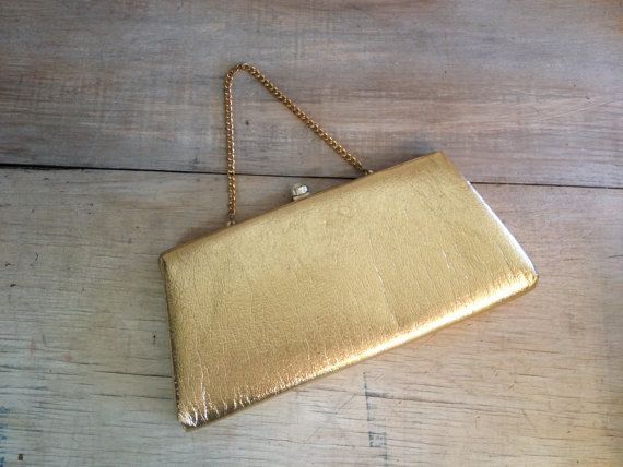 Vintage Gold Clutch Purse Handbag Mother of the bride groom bride maids gift ideas by couturecafe on Etsy, $36.00