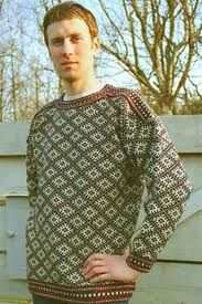 Traditional knitted sweater from Kihnu Island in the Baltic Sea. Estonia.