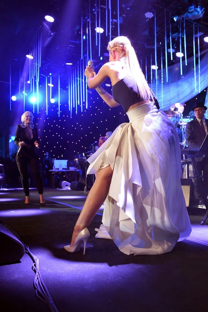 Iggy Azalea and Rita Ora performance at Pre-Grammy Gala and Salute to Industry Icons