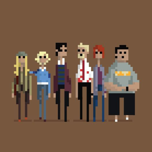 Animated 8-bit Comic Pixel Art of super heroes (3)