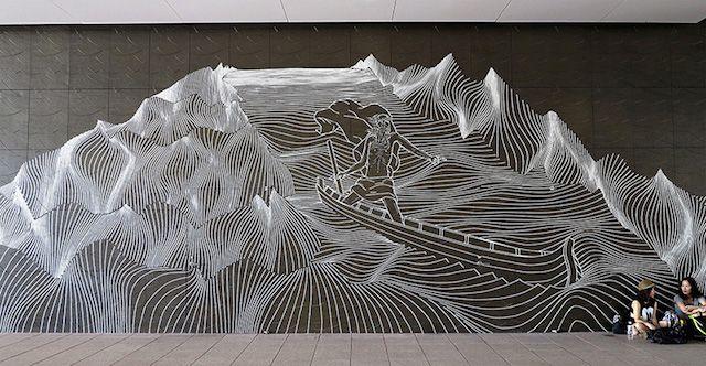 Masking Tape Street Art4