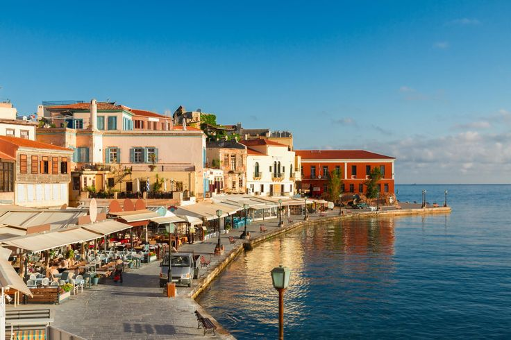 Travel essentials Why go now? Summer arrives earlier on the largest Greek island than elsewhere in the Med, and this year the lovely western city of Chania is easier to reach than ever - with British Airways launching flights from Heathrow on the last day of April.