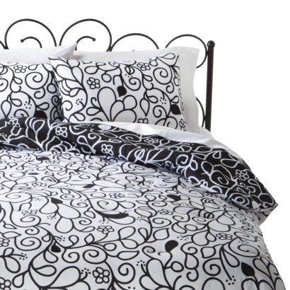 Black and White Reversible Scroll Comforter and Sham Set twin Xhilaration http://www.amazon.com/dp/B00JOUKFZC/ref=cm_sw_r_pi_dp_iQe7tb13Q7JDK