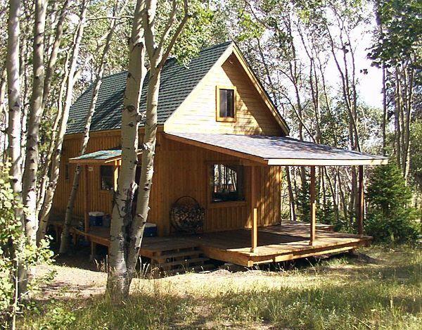 one blog about what they encountered when building a small cabin in the woods