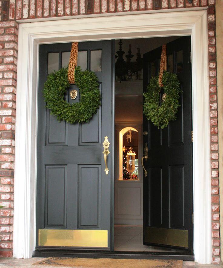 Christmas Wreaths For Double Front Doors: 42 Best Double Door Decor Images On Pinterest