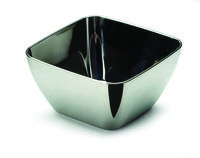 Small silver plastic appetiser bowls from Mozaik by Sabert, perfect for tastings, cocktail parties and receptions. Designed to be disposable but can be reused with careful washing.