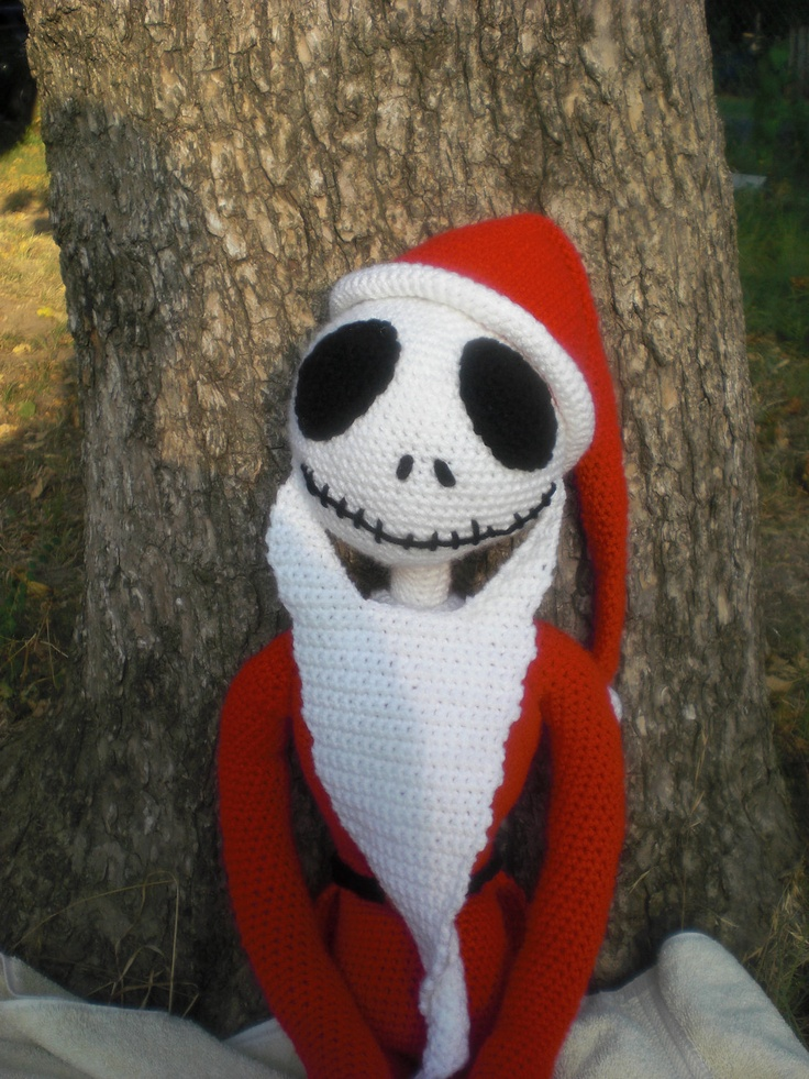 Jack Skellington Hat Knitting Pattern : Santa Jack Skellington Crochet PATTERN Nightmare before christmas, Jack o