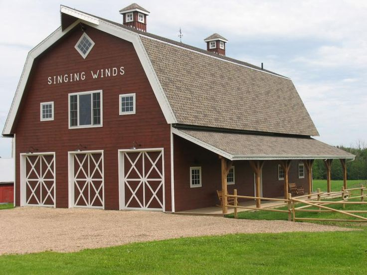112 best images about barn on pinterest red barns metal for Gambrel barn house plans