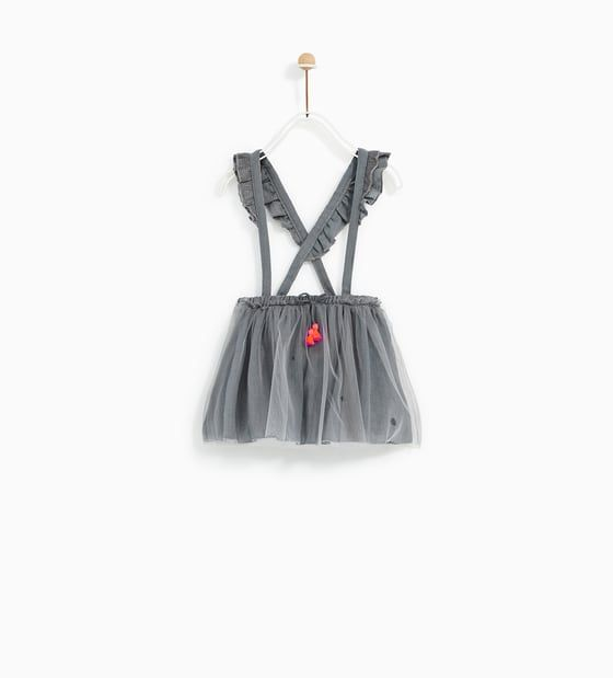 Image 1 of TULLE SKIRT WITH STRAPS from Zara