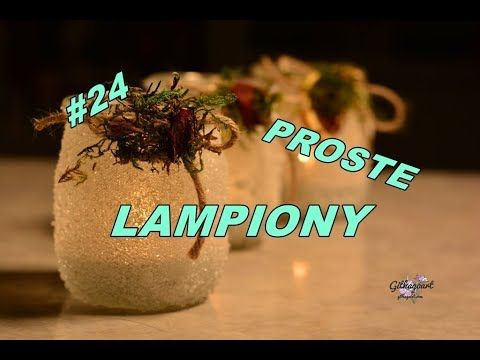 DIY Jak zrobić lampion ze słoiczka, cukru i wikolu - YouTube