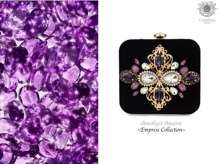 Amethyst Amaira Clutch by Garéma Official