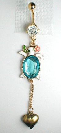 Unique Belly Ring - Trendy Turtle