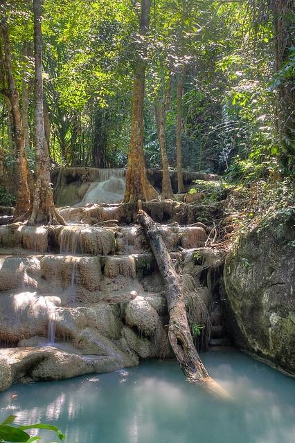 Kanchanaburi HDR, Erawan National Park, Thailand.  Photo: Patrick Mag, via Flickr