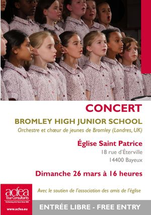 Concert Classique - Concert par Bromley High Junior School Eglise Saint Patrice - Bayeux, 14400