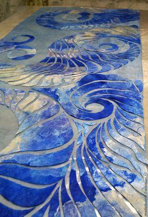 Создаём ажурный нуно-палантин «Сад волн». Часть 2 - Ярмарка Мастеров - ручная работа, handmade