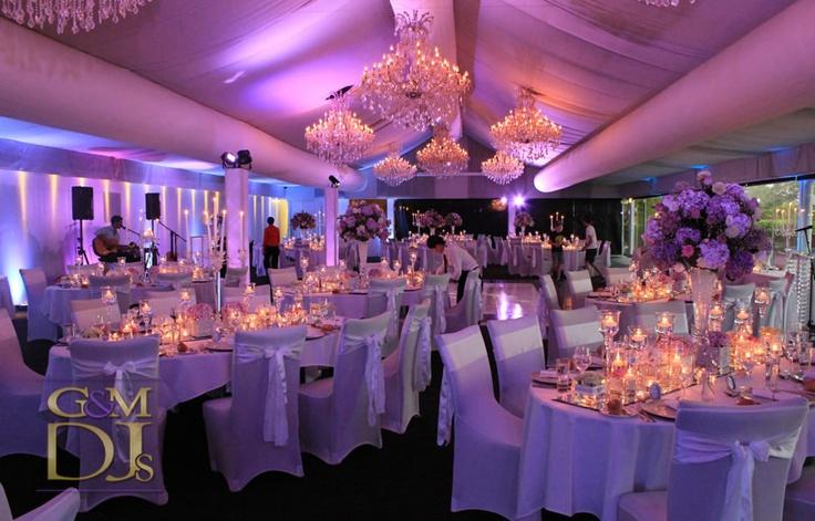 Wedding Reception Uplighting in the Marquee at Victoria Park Golf Club | G&M DJs | Magnifique Wedding Lighting #gmdjs #magnifiqueweddings #amazingvicpark #brisbanewedding @vicparkbrisbane  @gmdjs